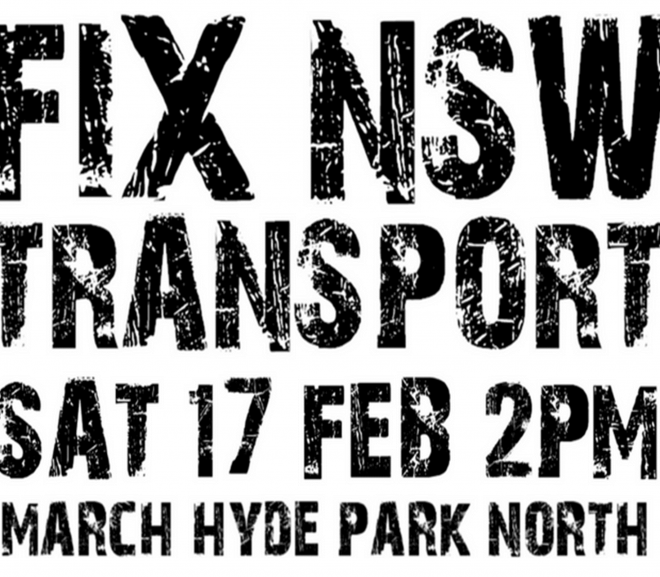 Fix NSW Transport – Sydney Rally on Saturday 17 February