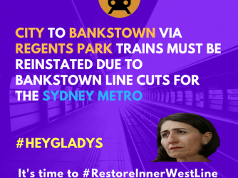 Reinstate City to Bankstown via Regents Park trains!