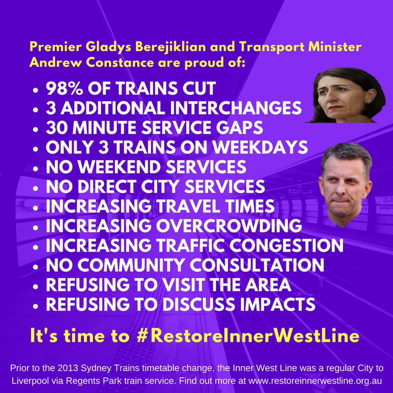 Public Transport Achievements of the NSW Government • Restore Inner