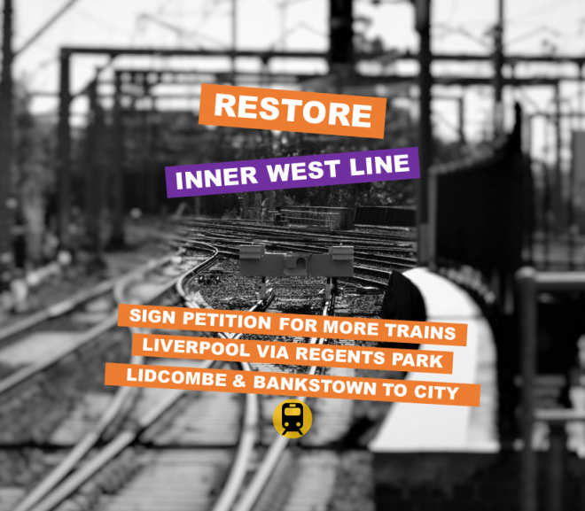 Councillors and Advocacy Groups Support Restore Inner West Line