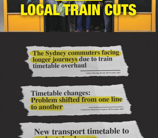 Stop Local Train Cuts Petition