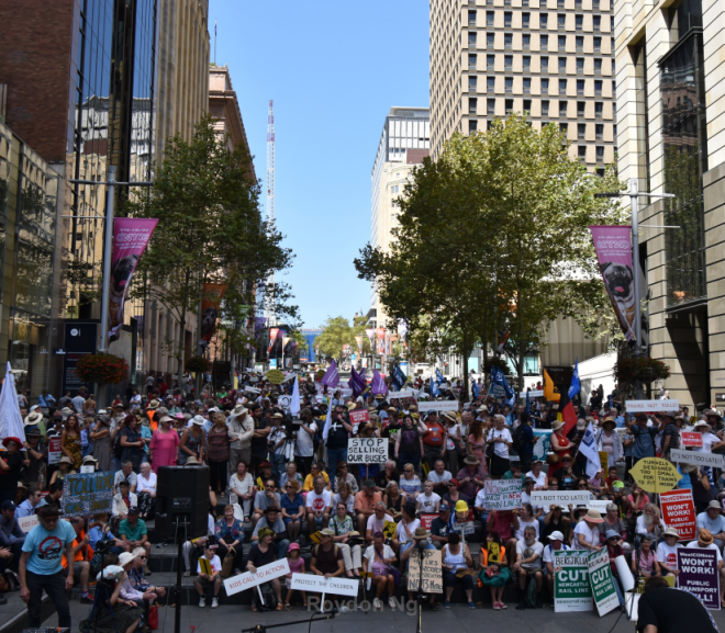 Sydney Rallies Against Transport Cuts
