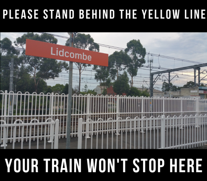 More Express Trains Cut from Lidcombe